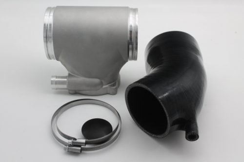 Porsche 996 Silver GT3 Competition Aluminium Intake Plenum Upgrade For 82mm Throttle Body - WITH EXTRA PIPE
